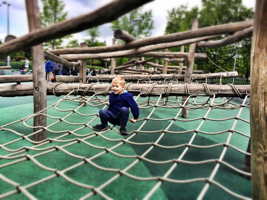 Fed gratis legeplads lige ved siden af London Eye